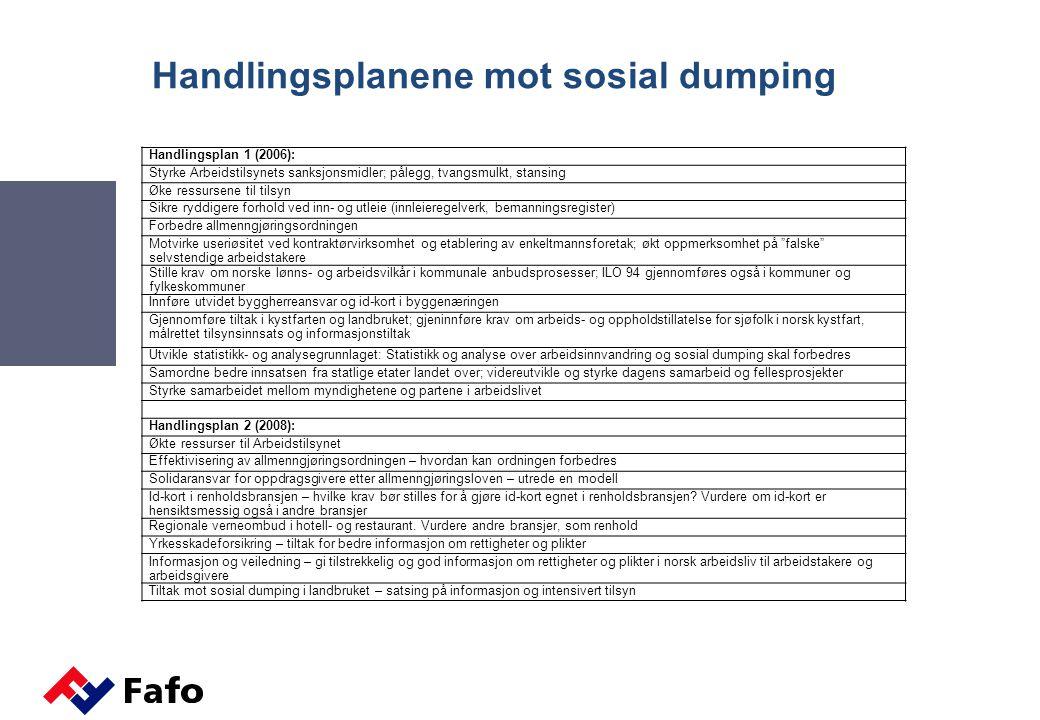 Handlingsplanene mot sosial dumping