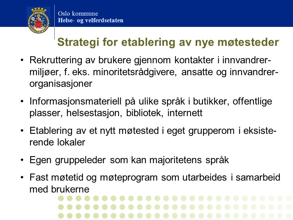 Strategi for etablering av nye møtesteder