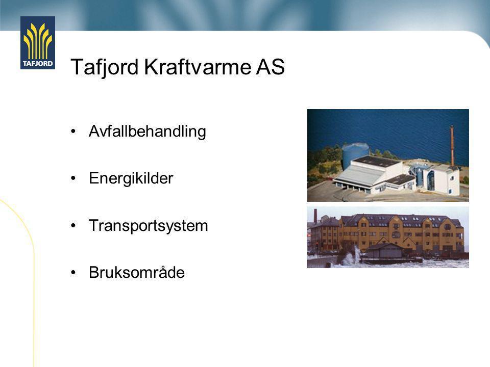 Tafjord Kraftvarme AS Avfallbehandling Energikilder Transportsystem