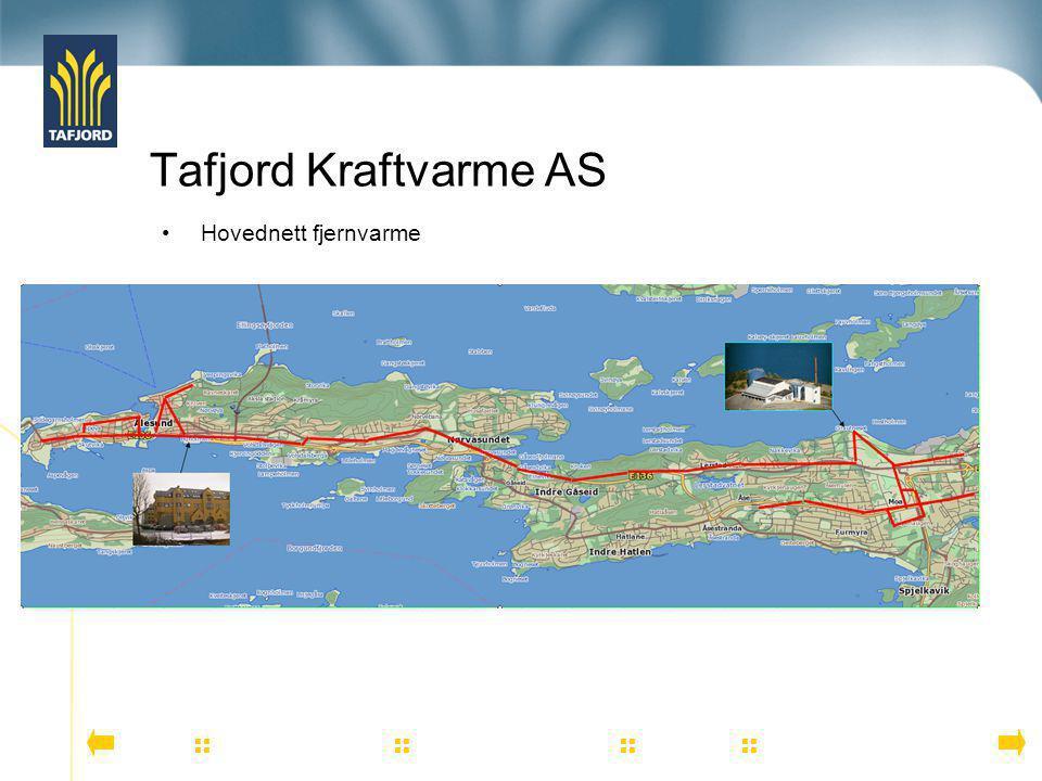 Tafjord Kraftvarme AS Hovednett fjernvarme NOTATER TIL DENNE SLIDEN: