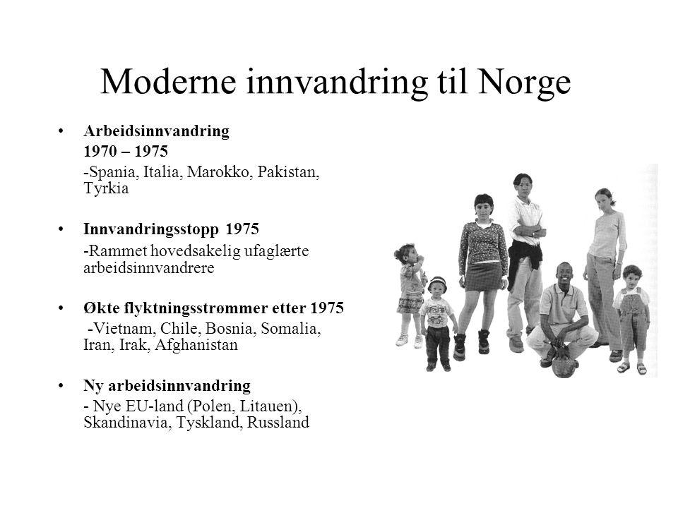 Moderne innvandring til Norge