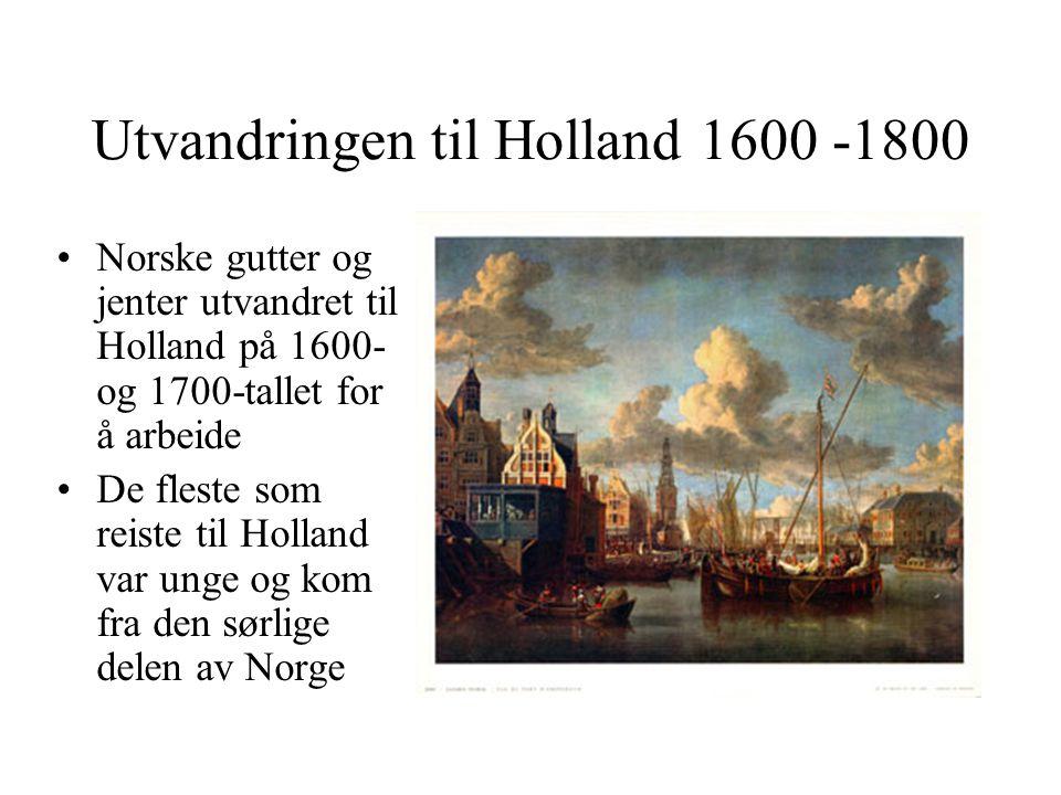 Utvandringen til Holland 1600 -1800