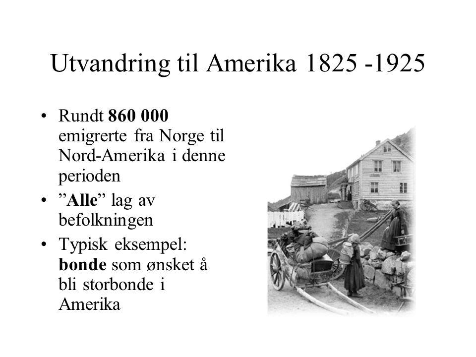 Utvandring til Amerika 1825 -1925