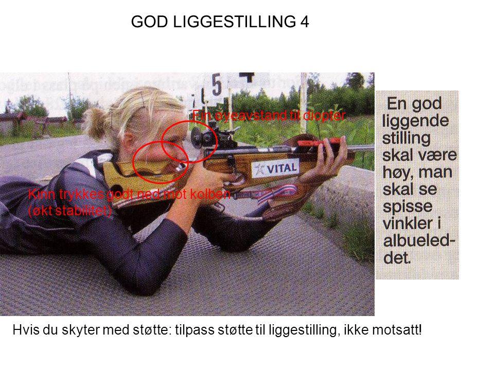 GOD LIGGESTILLING 4 Fin øyeavstand til diopter