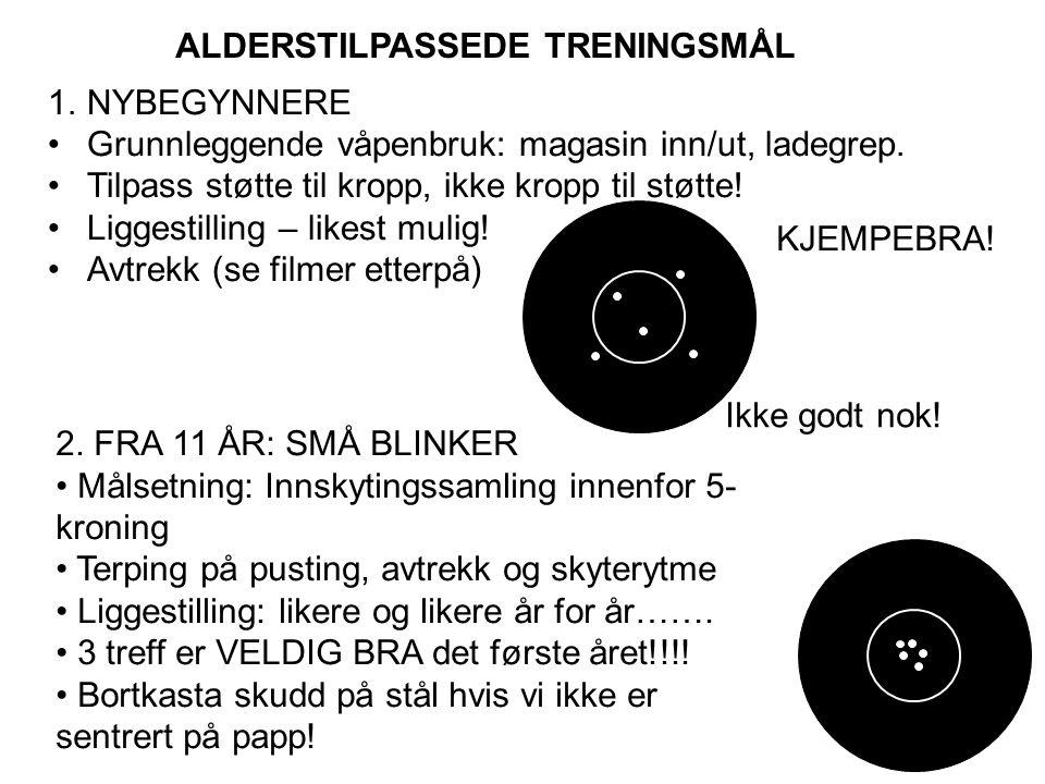 ALDERSTILPASSEDE TRENINGSMÅL