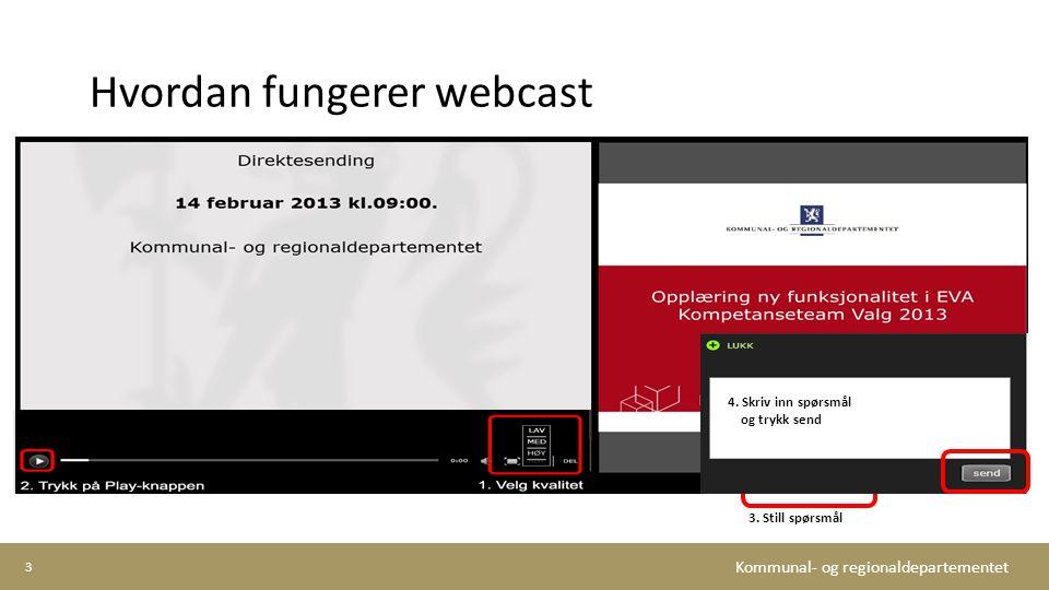 Hvordan fungerer webcast