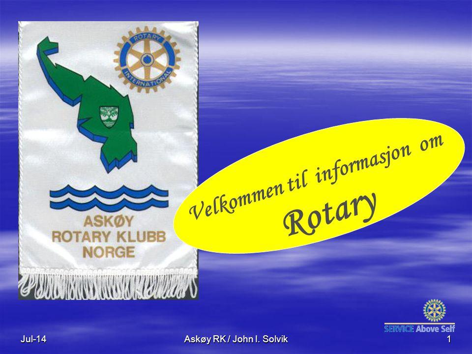 Velkommen til informasjon om Rotary