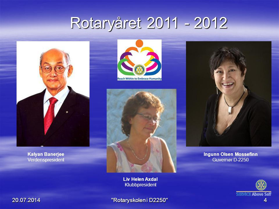 Rotaryåret 2011 - 2012 04.04.2017 Rotaryskolen i D2250