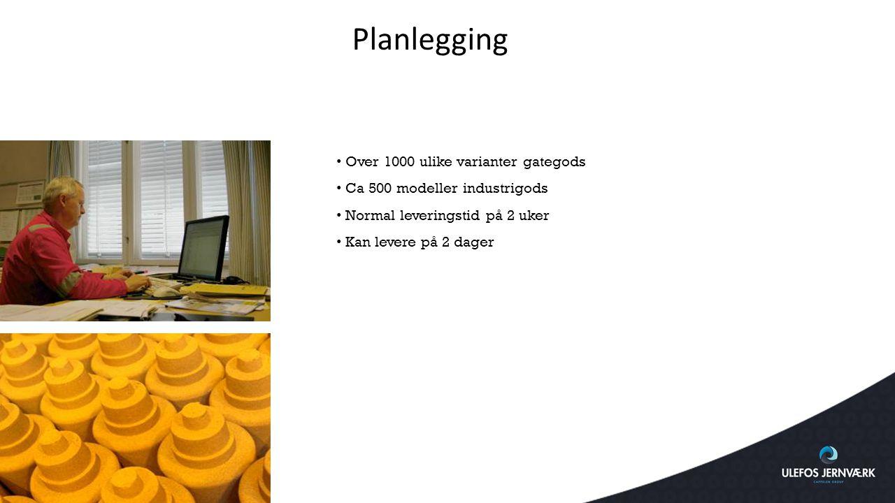Planlegging Over 1000 ulike varianter gategods