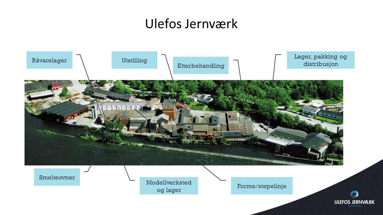 Ulefos Jernværk Råvarelager Utstilling Lager, pakking og distribusjon