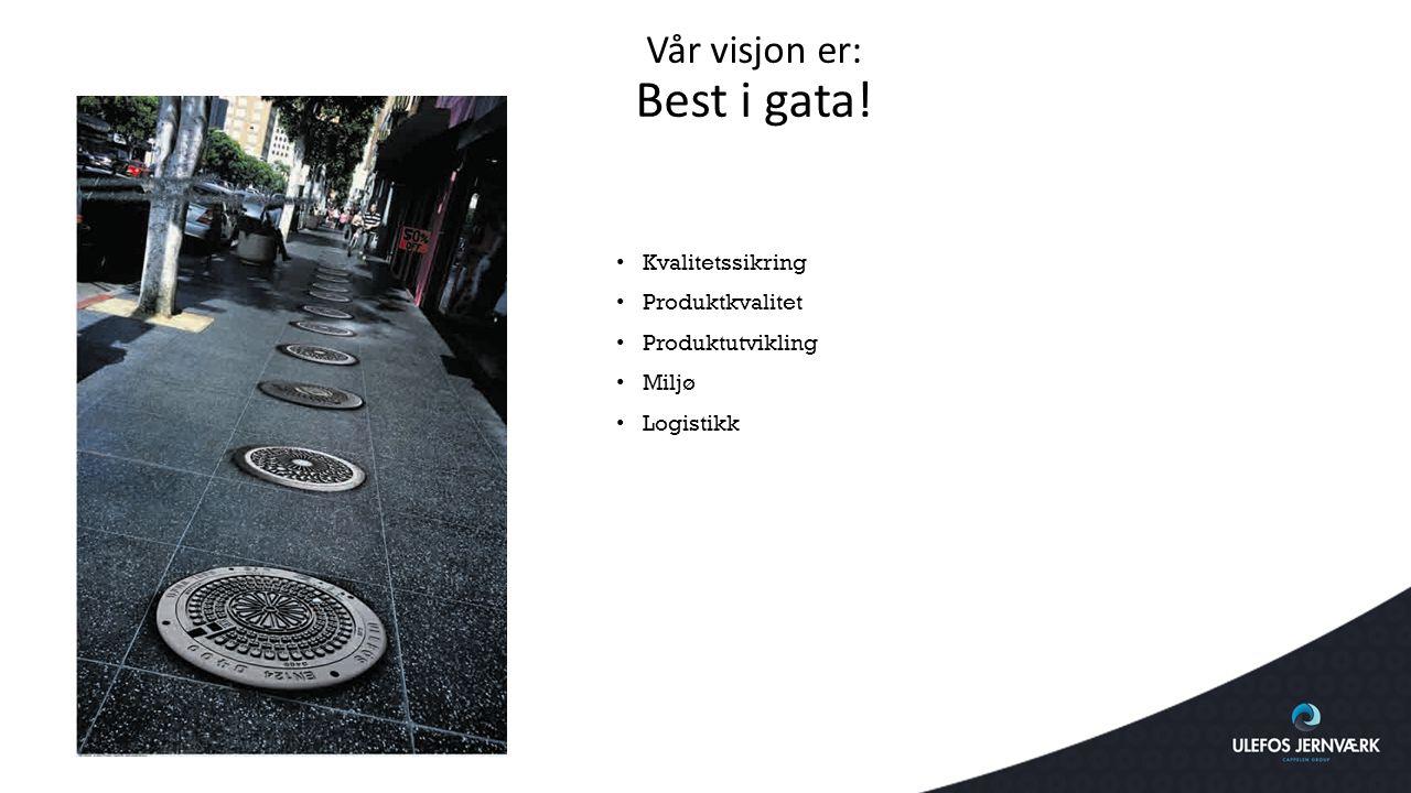 Vår visjon er: Best i gata!