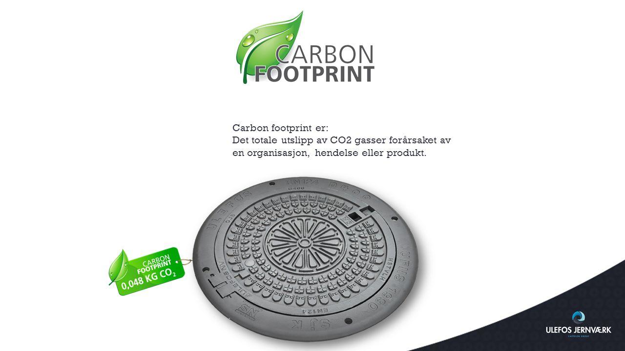 Carbon footprint er: Det totale utslipp av CO2 gasser forårsaket av.