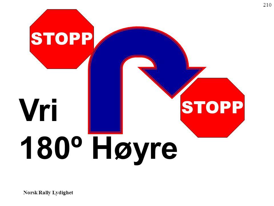 210 STOPP STOPP Vri 180º Høyre