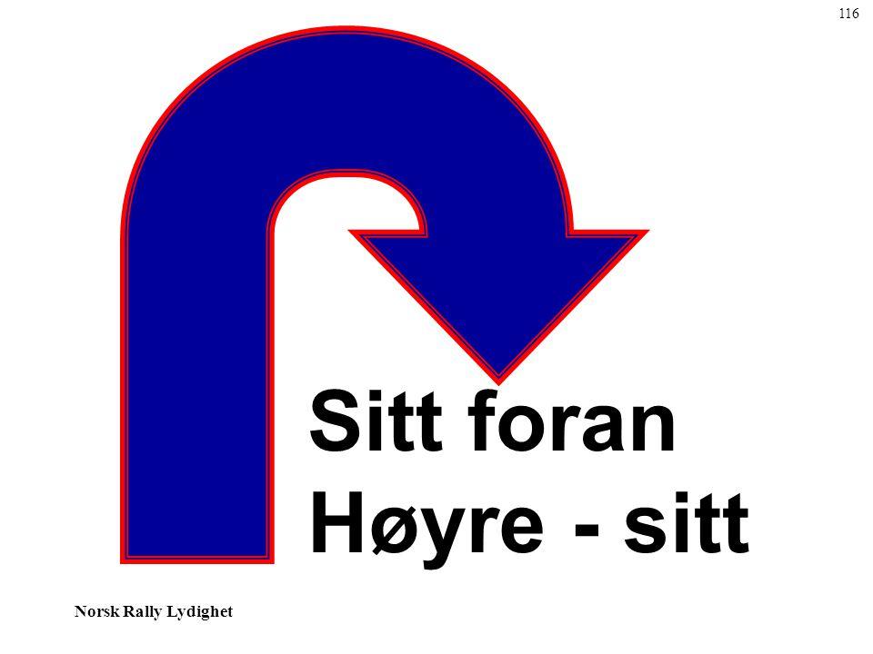 116 Sitt foran Høyre - sitt