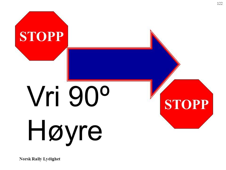 122 STOPP Vri 90º Høyre STOPP