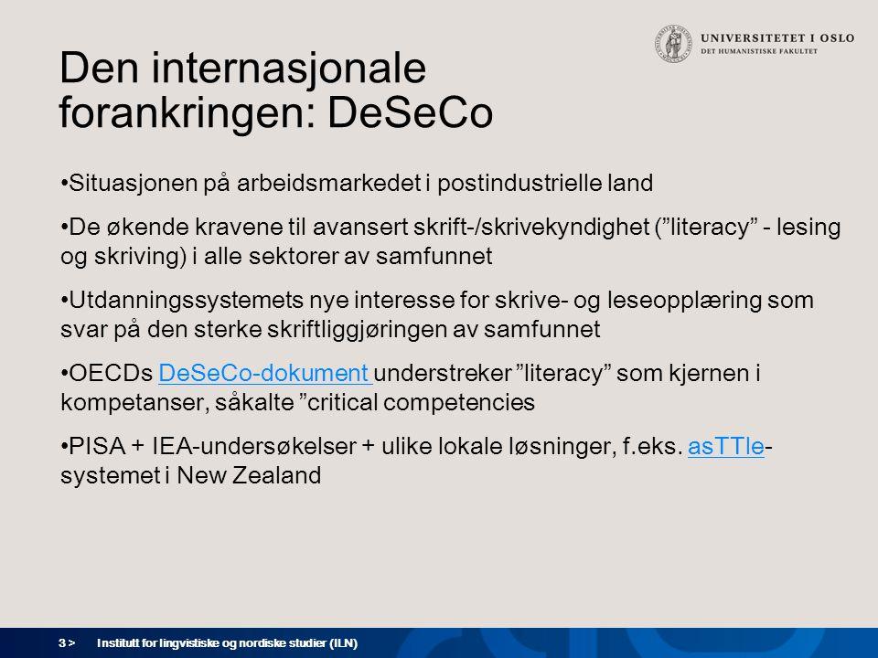 Den internasjonale forankringen: DeSeCo