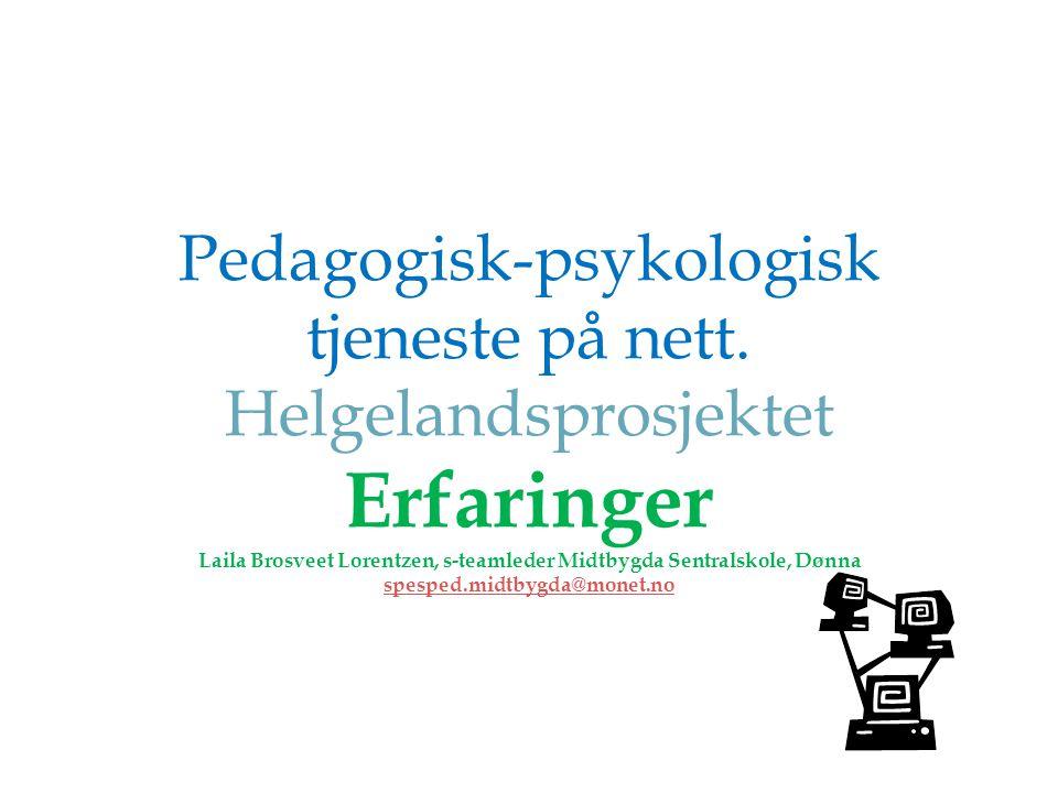Pedagogisk-psykologisk tjeneste på nett