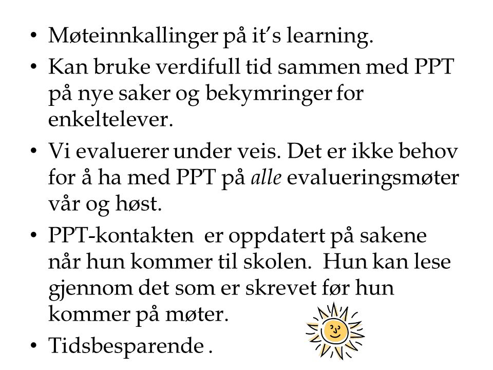 Møteinnkallinger på it's learning.