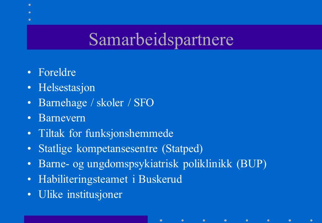 Samarbeidspartnere Foreldre Helsestasjon Barnehage / skoler / SFO