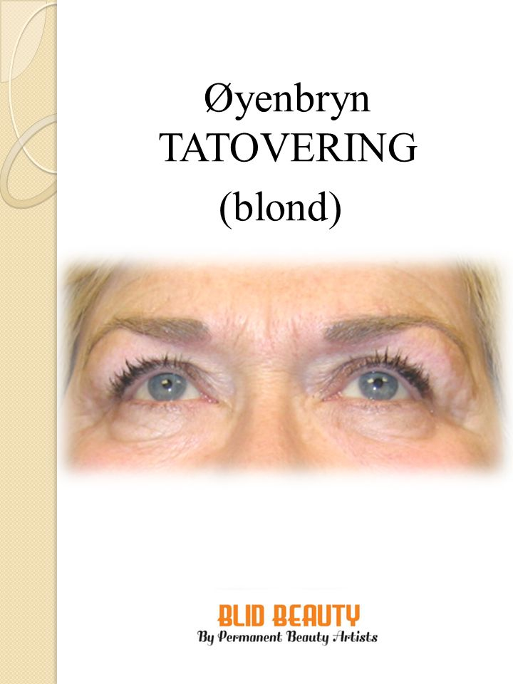 Øyenbryn TATOVERING (blond)