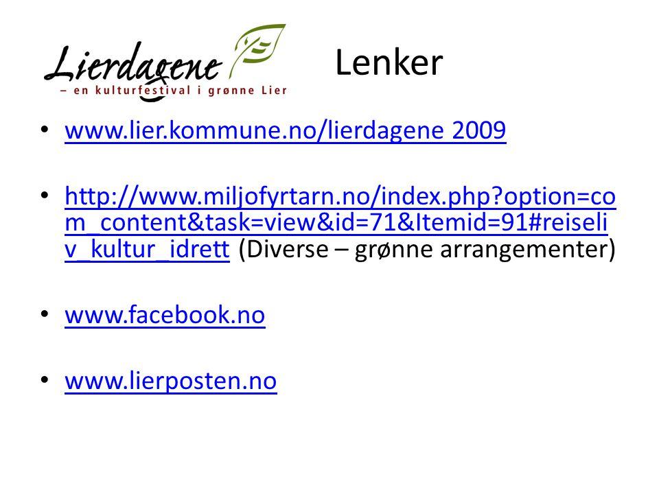 Lenker www.lier.kommune.no/lierdagene 2009