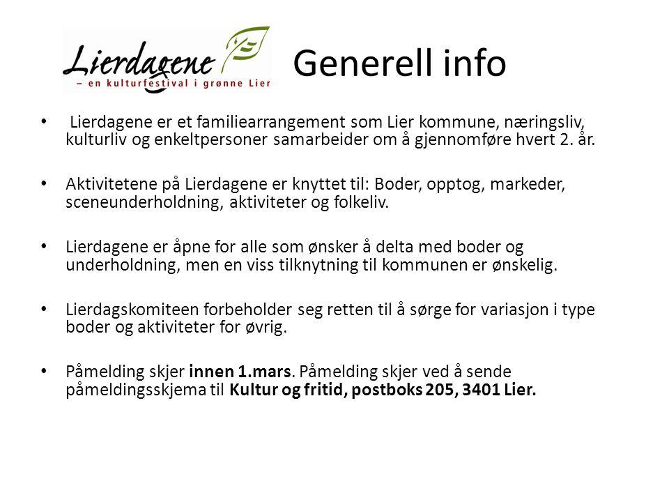 Generell info