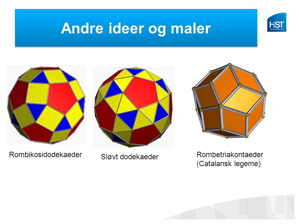 Andre ideer og maler Rombikosidodekaeder Rombetriakontaeder