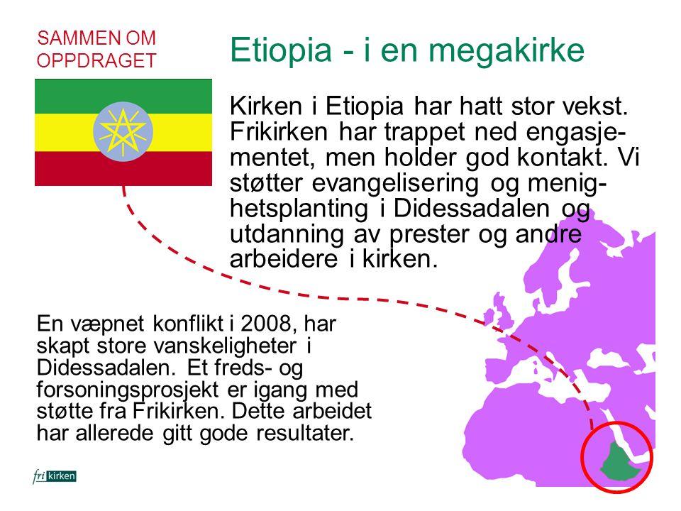 Etiopia - i en megakirke