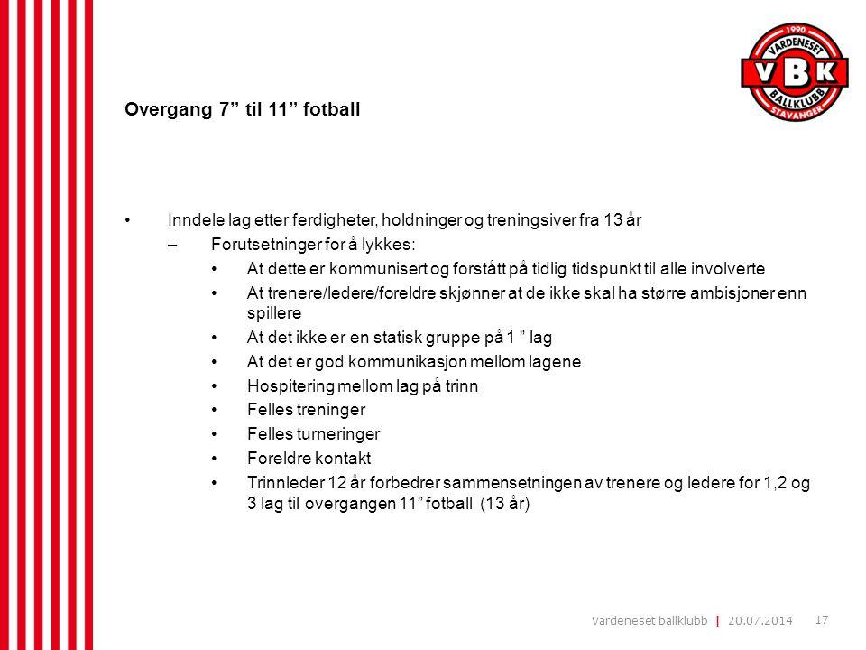 Overgang 7 til 11 fotball