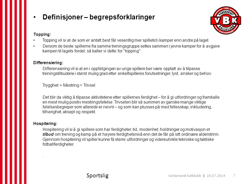 Definisjoner – begrepsforklaringer