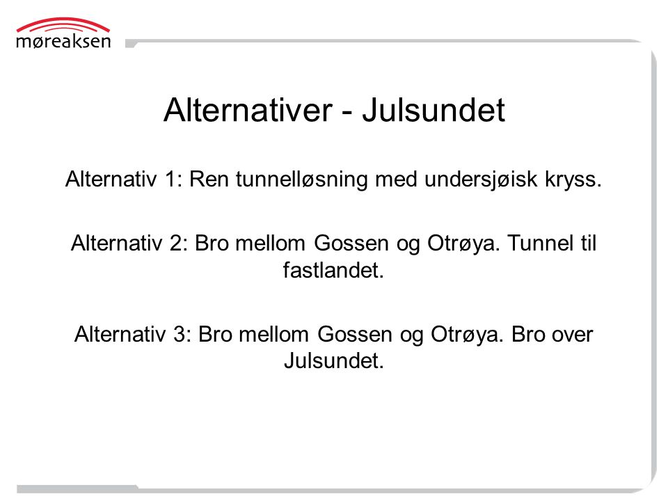 Alternativer - Julsundet