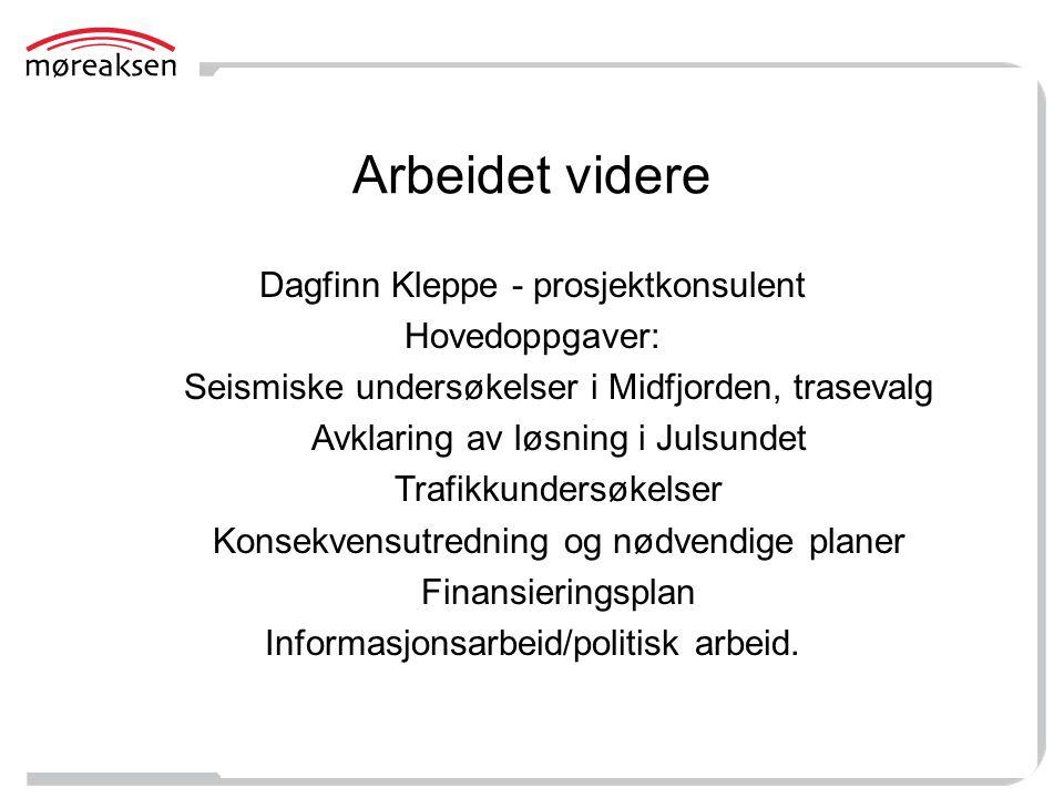 Arbeidet videre Dagfinn Kleppe - prosjektkonsulent Hovedoppgaver: