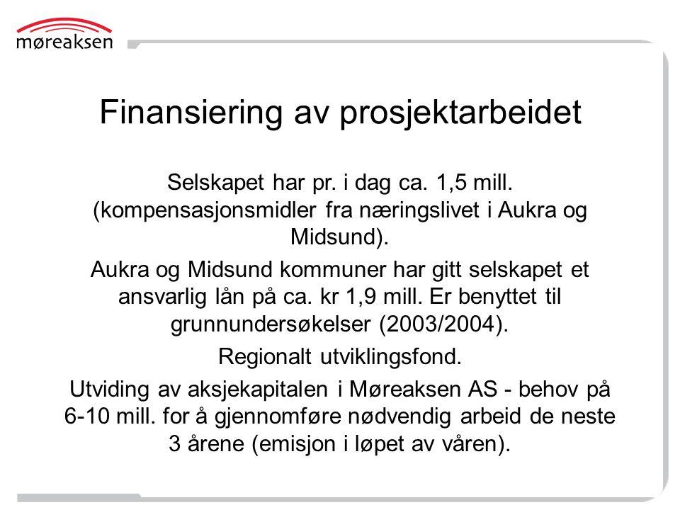 Finansiering av prosjektarbeidet