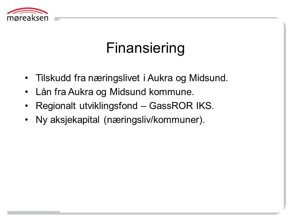 Finansiering Tilskudd fra næringslivet i Aukra og Midsund.