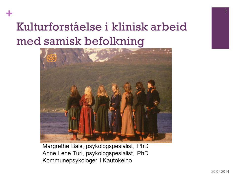 Kulturforståelse i klinisk arbeid med samisk befolkning