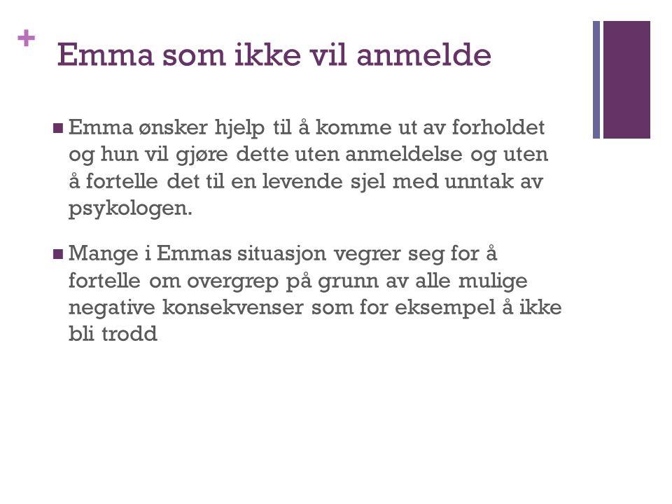 Emma som ikke vil anmelde