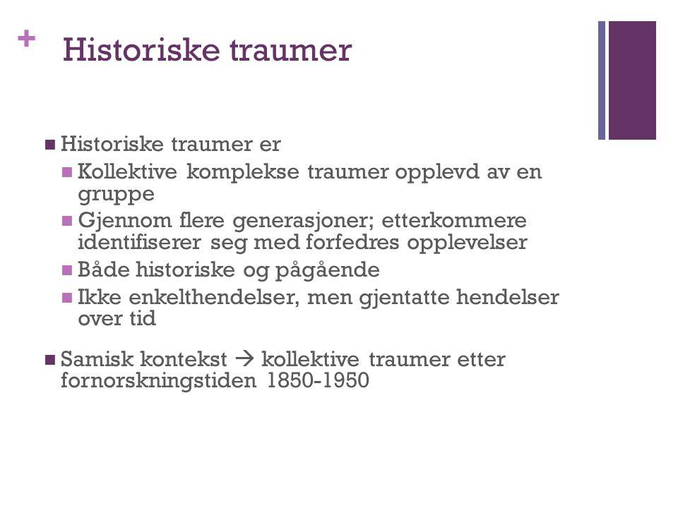 Historiske traumer Historiske traumer er