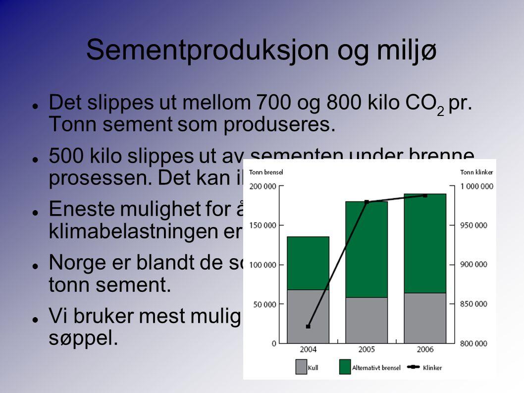 Sementproduksjon og miljø