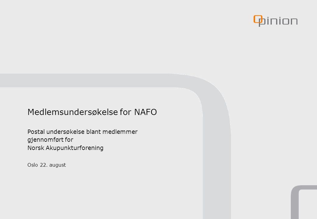Medlemsundersøkelse for NAFO