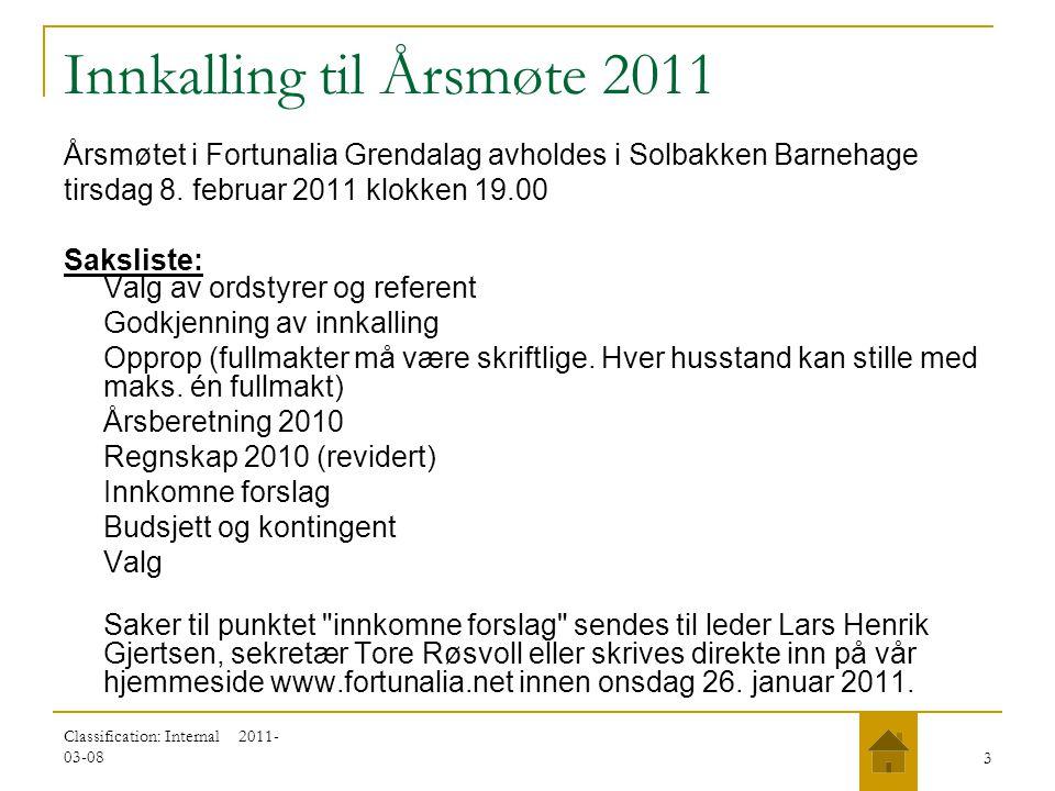 Innkalling til Årsmøte 2011