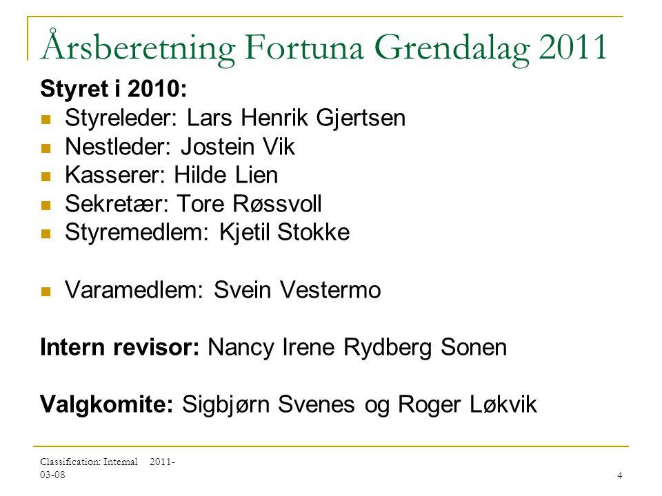 Årsberetning Fortuna Grendalag 2011