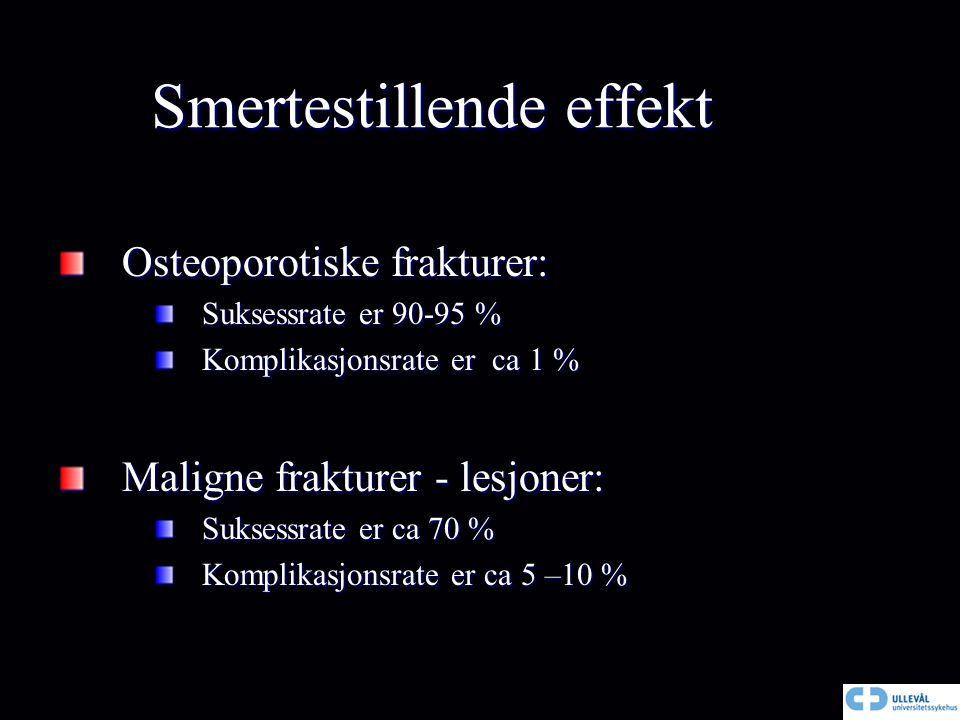 Smertestillende effekt