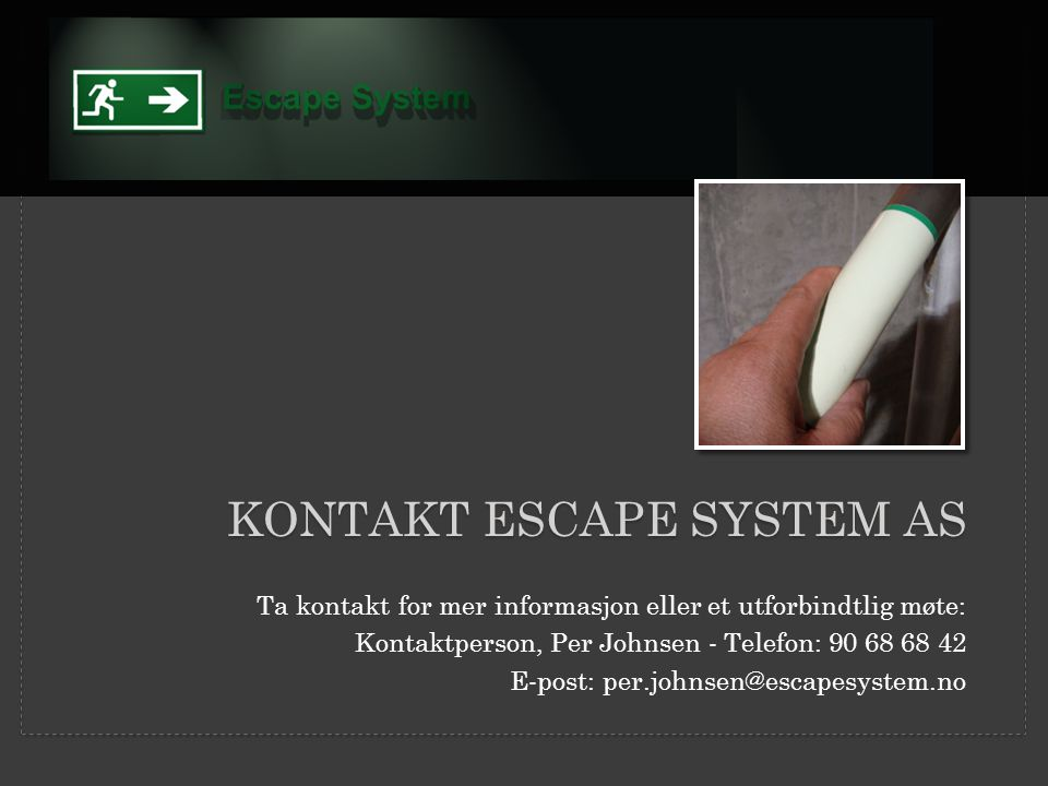 KONTAKT ESCAPE SYSTEM AS