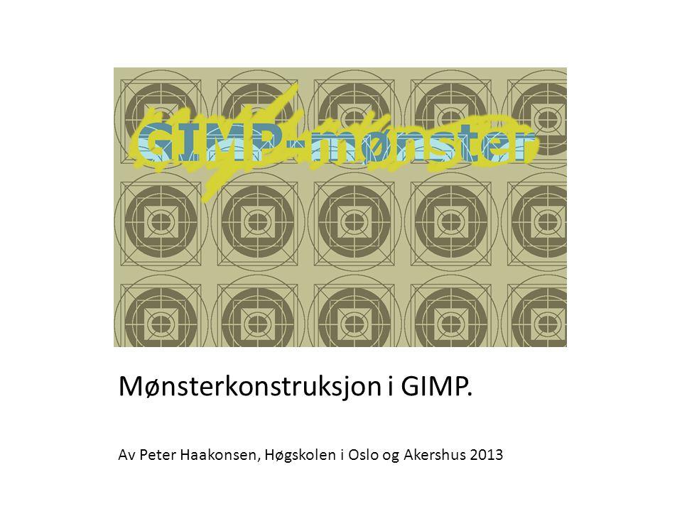 Mønsterkonstruksjon i GIMP.