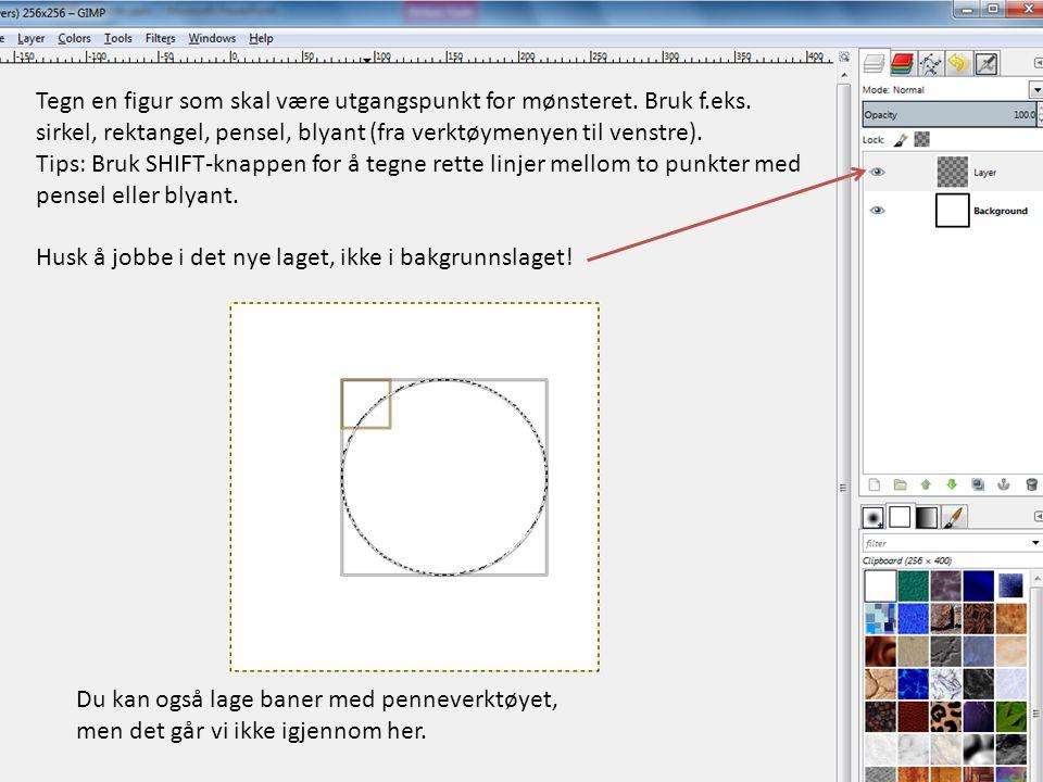 Tegn en figur som skal være utgangspunkt for mønsteret. Bruk f. eks