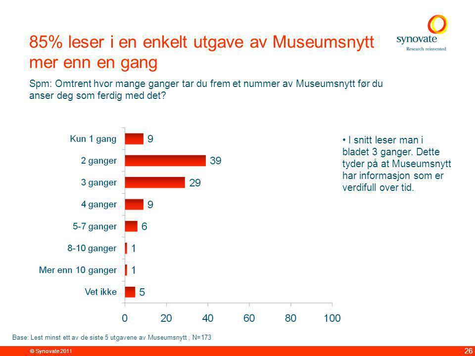 Over halvparten tar vare på Museumsnytt i mer enn 6 måneder