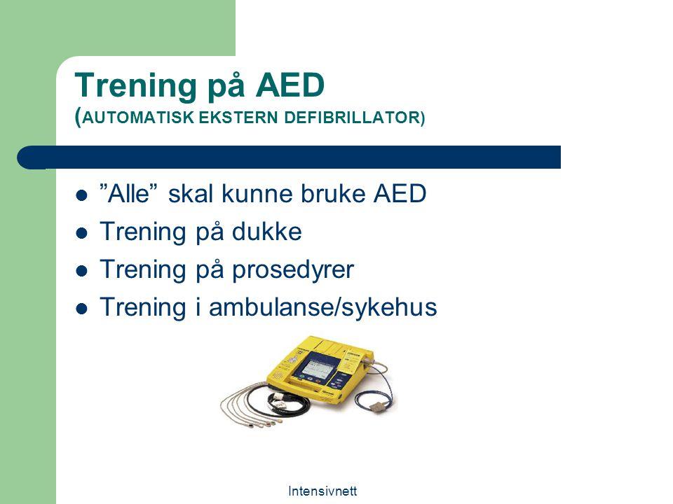 Trening på AED (AUTOMATISK EKSTERN DEFIBRILLATOR)