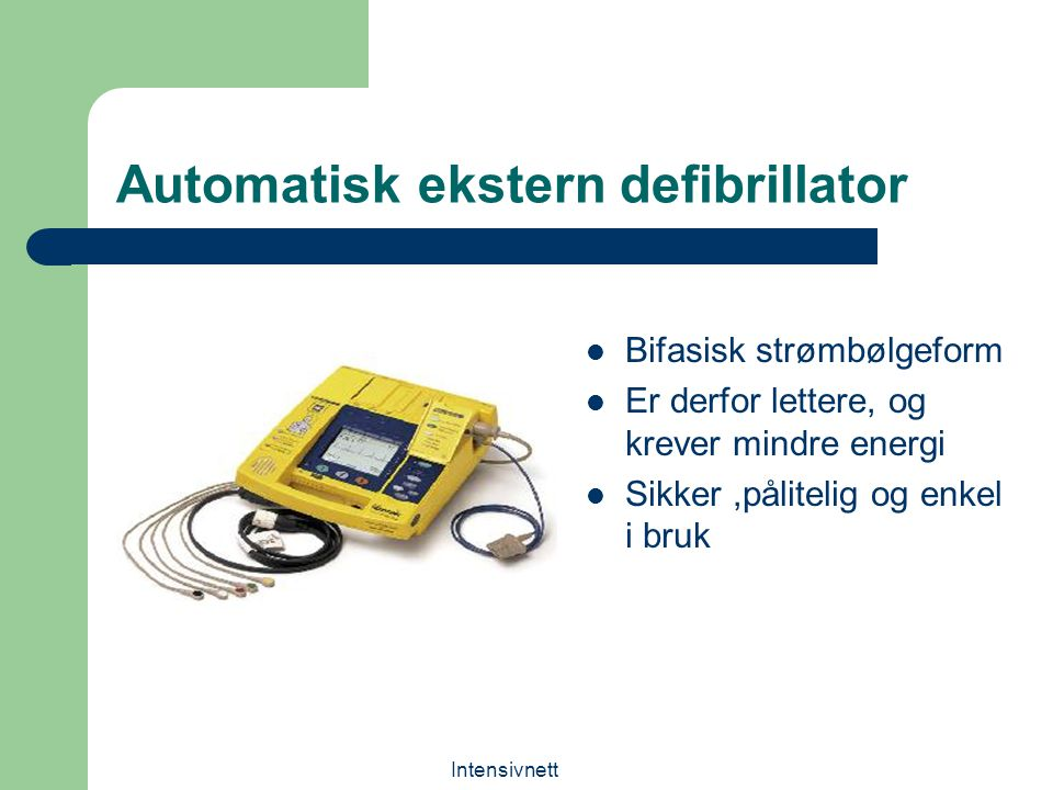 Automatisk ekstern defibrillator
