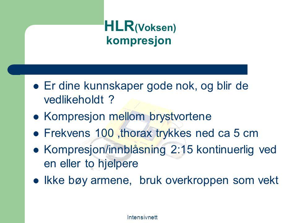 HLR(Voksen) kompresjon