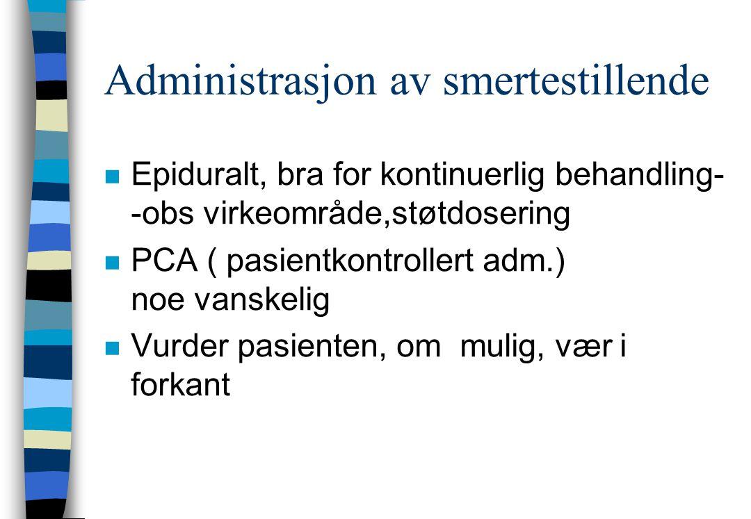 Administrasjon av smertestillende